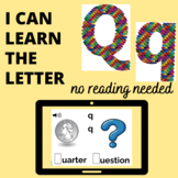 The Letter Q  Boom™ Cards  No Reading Needed-digital