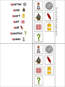 The Letter Q Interactive Book