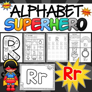 The Letter R Alphabet Superhero