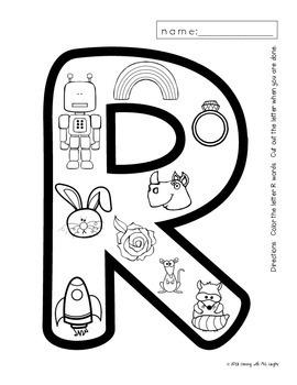 Alphabet Worksheets for the Letter R