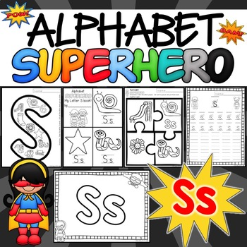 The Letter S Alphabet Superhero