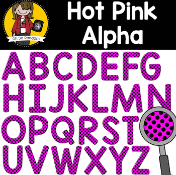 The Letter Series | Hot Pink