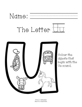The Letter U Field Trip!