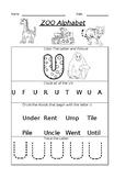 The Letter U Worksheet