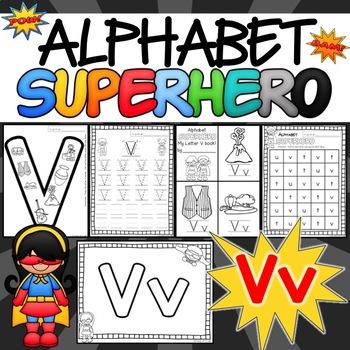 The Letter V Alphabet Superhero
