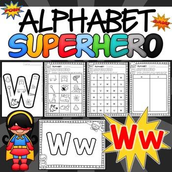 Alphabet Worksheets for the Letter W