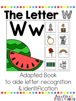 The Letter W Interactive Book