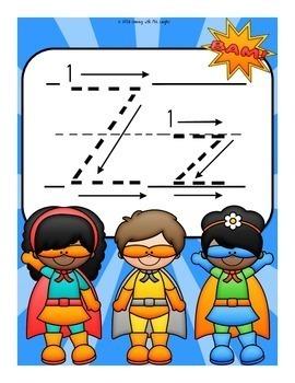 The Letter Z Alphabet Superhero