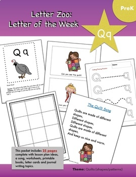 The Letter Zoo-- Full 26-Week Curriculum