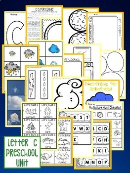 The Letter of the Week is C - Preschool Math, Literacy, and Sensory Centers