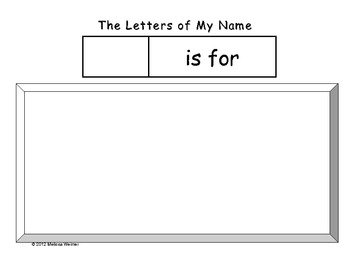 The Letters of My Name