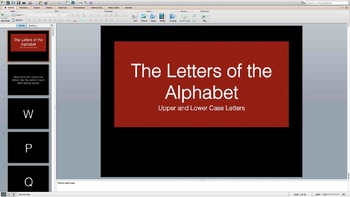 The Letters of the Alphabet PowerPoint-Flashcards