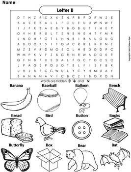 The Letters of the Alphabet Word Searches Bundle: Color in Worksheets