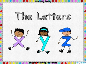 The Letters 'x, y and z'
