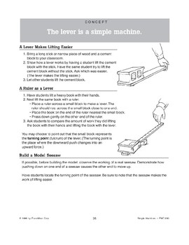 The Lever Is a Simple Machine