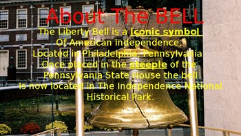 The Liberty Bell: A study about America