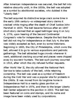 The Liberty Bell Handout