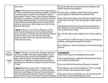 The Library Card- Guided Reading Chapter Summaries and Leveled Questions