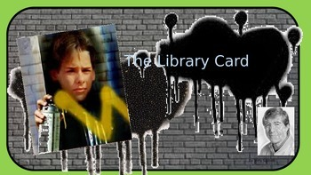 The Library Card by Jerry Spinelli introductory Powerpoint
