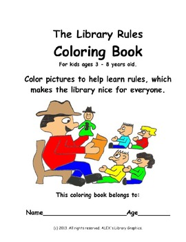 The Library Rules Coloring Book For Libraires and Media Centers - PDF Edition