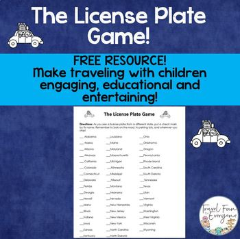 The License Plate Game