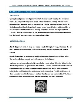 The Life & Crimes of Harry Lavender-Day Text Guides & Worksheets