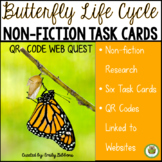 Butterfly Life Cycle Non-Fiction Task Cards and Web Quest