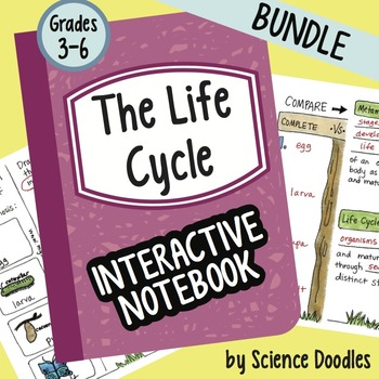 Science Doodle - The Life Cycle and CO2/Oxygen Cycle Interactive Notebook BUNDLE