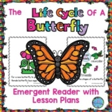 Life Cycle of a Butterfly Emergent Reader ESL Spring Craft Wheel & Printables
