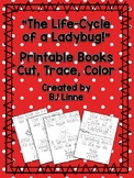 """The Life-Cycle of a Ladybug"" Cut, Trace & Color Printable Book!"