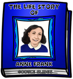 The Life Story of Anne Frank Digital Research Project in Google Slides™