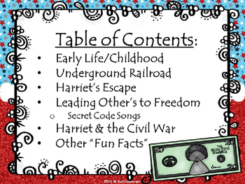 The Life/Story of Harriet Tubman - PPT Edition