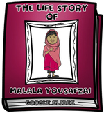 The Life Story of Malala Yousafzai Digital Research Project in Google Slides™