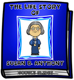 The Life Story of Susan B. Anthony Digital Research Project in Google Slides™