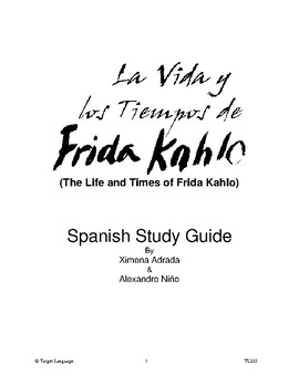 The Life & Times of Frida Kahlo-Spanish Study Guide