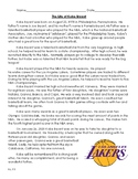 The Life and Death of Kobe Bryant - Reading Level 7