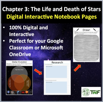 The Life and Death of Stars - Digital Interactive Notebook Pages