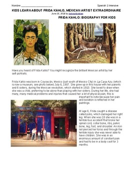The Life and Times of Frida Kahlo: Pre-Reading
