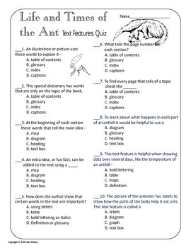 The Life and Times of The Ant Journeys 14 NONFICTION and ASSESSMENTS