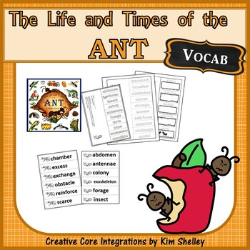 The Life and Times of The Ant Journeys 14 VOCABULARY miniBundle