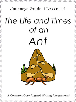 The Life and Times of an Ant--Writing Prompt-Journeys Grad
