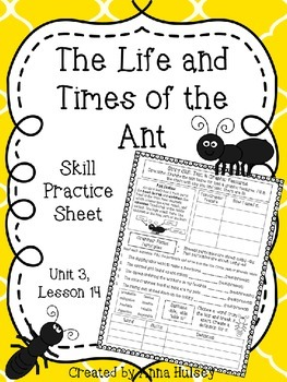 The Life and Times of the Ant (Skill Practice Sheet)