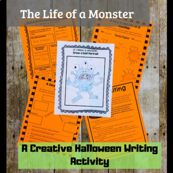 The Life of A Monster Halloween Writing Activity