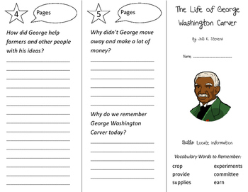 The Life of George Washington Carver Trifold - Storytown 2nd Gr Unit 4 Week 4