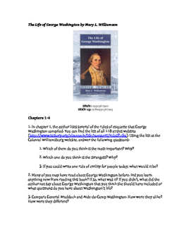 The Life of George Washington by Mary L. Williamson Discussion Questions