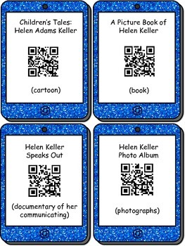 The Life of Helen Keller QR codes and comprehension check