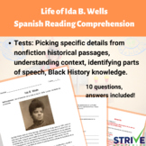 The Life of Ida B. Wells Spanish Reading Comprehension and