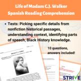 The Life of Madam C.J. Walker Spanish Reading Comprehensio