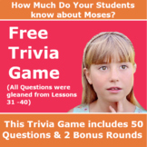 Children's Bible Activities – The Life of Moses Trivia Game