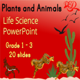 ⭐Plants and Animals Interactive Life Science Powerpoint ❘ Leveled Reading